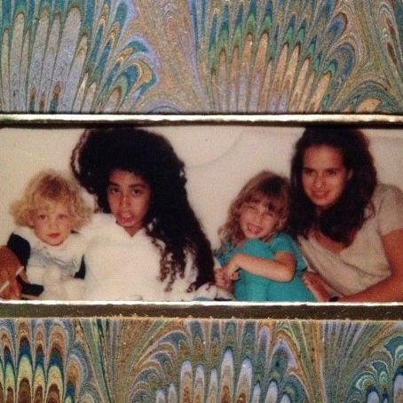 Karis Jagger Hunt James, Karis, Elizabeth & Jade Jagger in 1980s