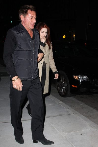 Richard Palmer  and Priscilla Presley