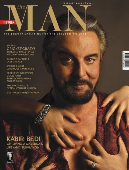 Kabir Bedi  - The Man Magazine Pictorial [India] (February 2011)