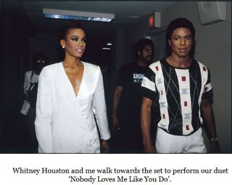 Whitney Houston and Jermaine Jackson