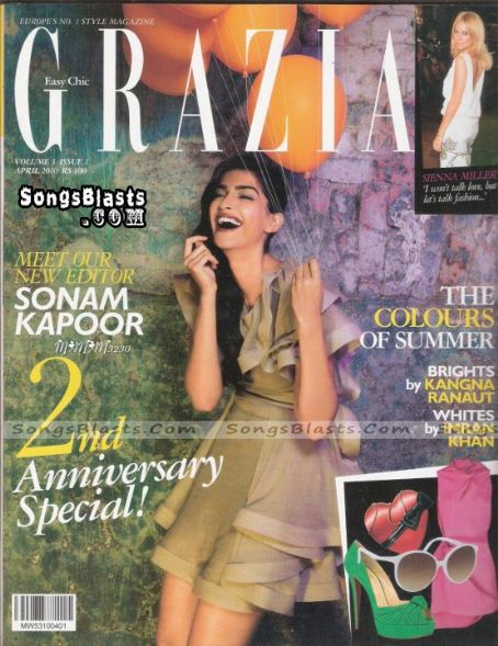 Sonam Kapoor - Grazia Magazine [India] (April 2010)