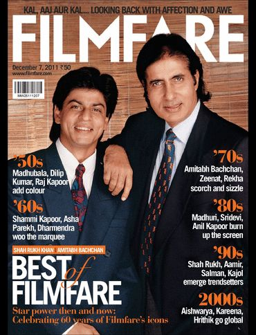 Shah Rukh Khan, Amitabh Bachchan - Filmfare Magazine Cover [India] (7 December 2011)