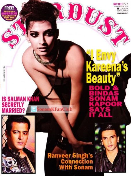 Sonam Kapoor - Stardust Magazine Cover [India] (May 2011)