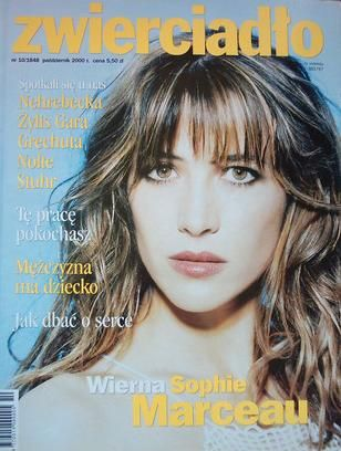 Sophie Marceau - Zwierciadło Magazine Cover [Poland] (October 2000)
