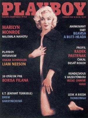 Marilyn Monroe - Playboy Magazine Cover [Slovakia] (February 1997)