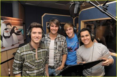 Logan Henderson The boys of Big Time Rush spent today, September 14, lending their voices to an upcoming episode of The Penguins of Madagascar!