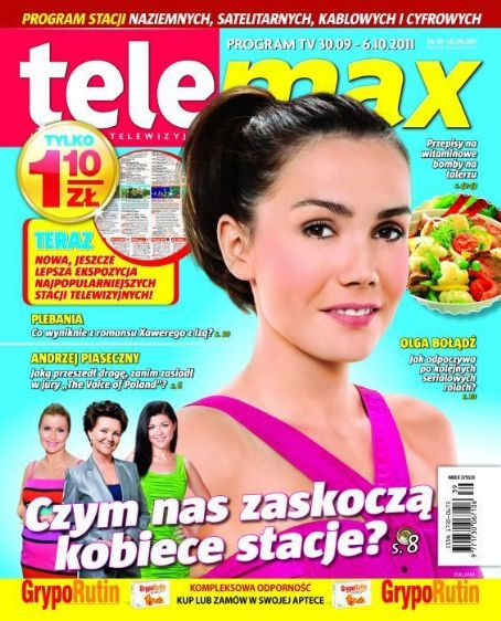 Olga Boladz - Tele Max Magazine Cover [Poland] (30 September 2011)