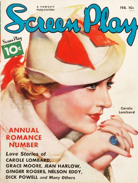 Carole Lombard - Screen Play Magazine [United States] (February 1936)