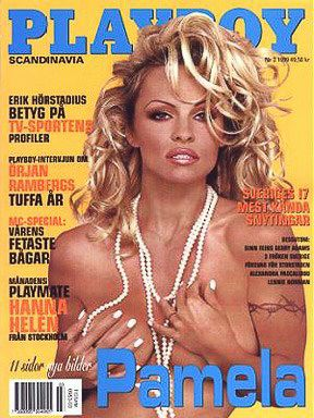 Pamela Anderson - Playboy Magazine Cover [Sweden] (April 1999)