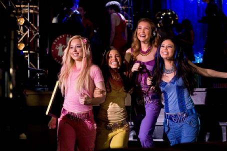 Logan Browning Skyler Shaye as Cloe,  as Sasha, Nathalia Ramos as Yasmin and Janel Parrish as Jade in Lions Gate Films' Bratz: The Movie - 2007