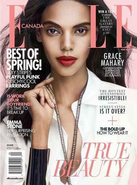 Grace Mahary - Elle Magazine Cover [Canada] (May 2013)