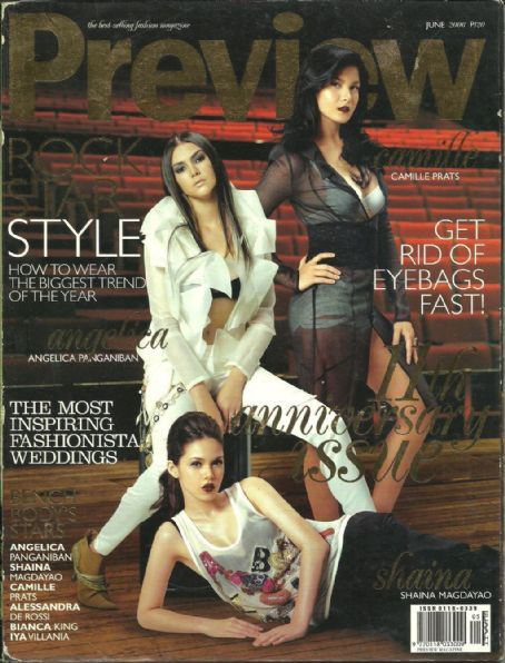 Angelica Panganiban, Camille Prats, Shaina Magdayao, Alessandra de Rossi, Bianca King, Iya Villania - Preview Magazine Cover [Philippines] (June 2006)