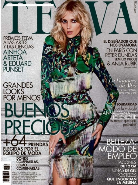 Anja Rubik - Telva Magazine Cover [Spain] (October 2011)