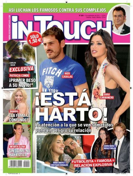Irina Shayk, Cristiano Ronaldo, Zaira Nara, Diego Forlan, Sara Carbonero, Iker Casillas - In Touch Magazine Cover [Spain] (1 September 2010)