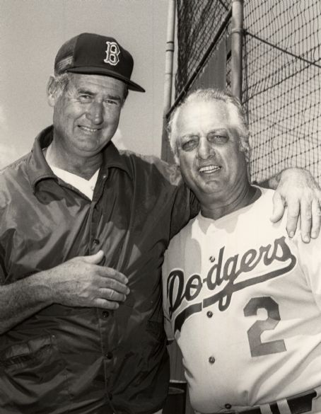 Tommy Lasorda Tommy with Ted Williams