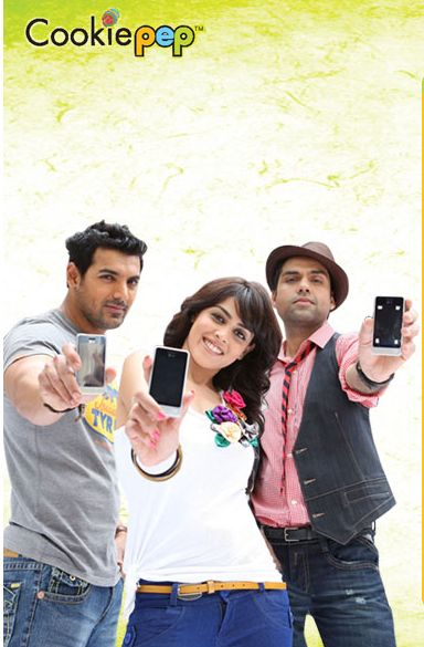 Genelia D'Souza - John, Abhay and Genelia Shoots for LG Cookie advert