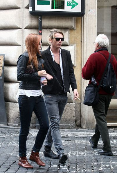 Jamie Campbell Bower Jamie romances in Rome