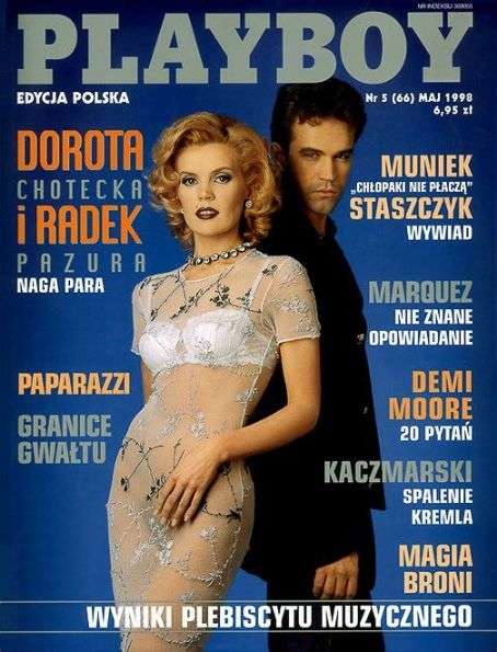 Dorota Chotecka, Radek Pazura - Playboy Magazine Cover [Poland] (May 1998)