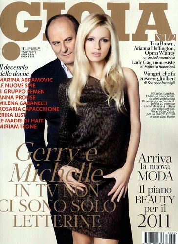 Michelle Hunziker - Gioia Magazine Cover [Italy] (12 January 2011)