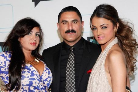 Mercedes Javid Mercedes 'MJ' Javid, Reza Farahan, Golnesa 'GG' Gharachedahi attend the Bravo Upfront 2012 at Center 548 on April 4, 2012 in New York City