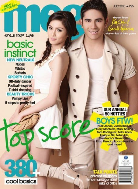 Kim Chiu, Gerald Anderson - Meg Magazine Cover [Philippines] (July 2010)