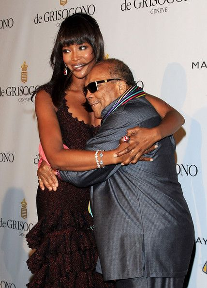 Naomi Campbell and Quincy Jones