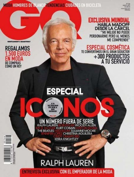 Ralph Lauren - GQ Magazine Cover [Spain] (May 2011)