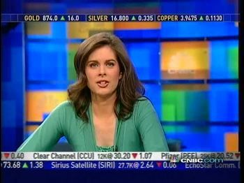 Erin Burnett  on air