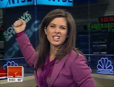 Erin Burnett  lets loose on CNBC.