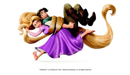 Rapunzel (L-R)  (Mandy Moore), Flynn (Zachary Levi). ©Disney Enterprises, Inc. All Rights Reserved.