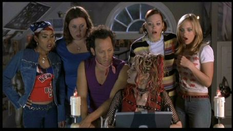 Alexandra Holden Maritza Murray, Megan Kuhlmann, Rob Schneider, Samia Doumit,  and Anna Faris in Touchstone's The Hot Chick - 2002