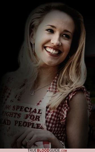 Anna Camp as Sarah Newlin in True Blood