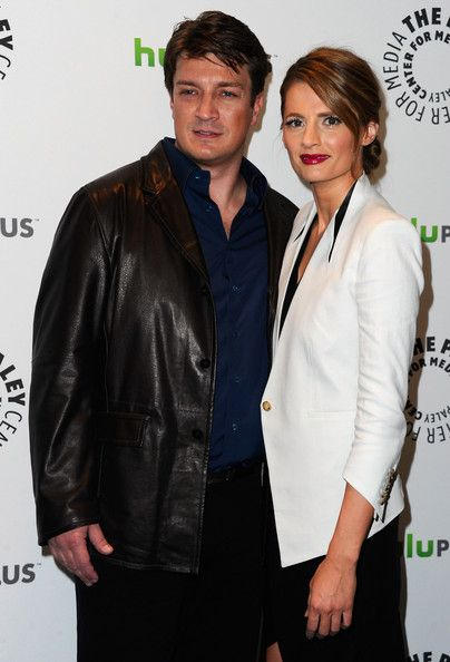 Stana Katic and Nathan Fillion