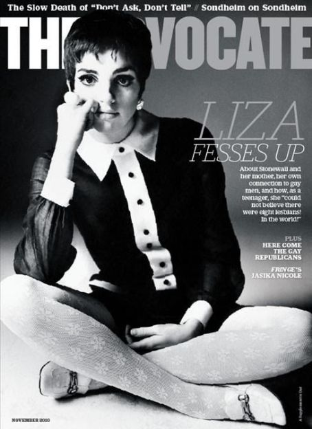 Liza Minnelli - The Advocate Magazine Cover [United States] (November 2010)