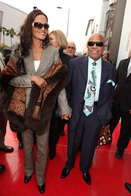 Berry Gordy Columbia Pictures Premiere Of Michael Jackson's