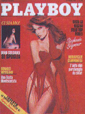 Stephanie Seymour, Unknown - Playboy Magazine Cover [Italy] (February 1993)