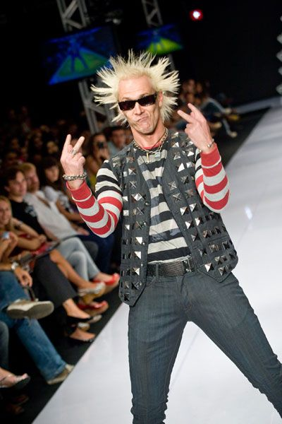 Supla at a Fashion Show