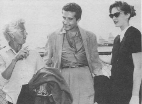 Johnny Stompanato Lana Turner with lover  and daughter Cheryl Crane.