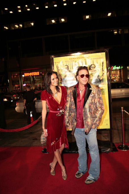 Ed Moseby Mickey Rourke at the LA premiere of New Line Cinema's Domino