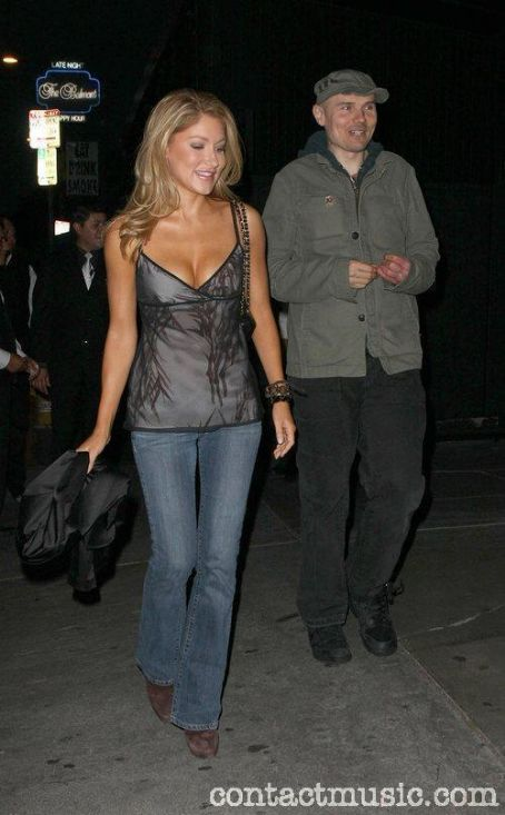 Jackie Johnson Billy Corgan and  arriving at STK restaurant West Hollywood, California - 11.06.09