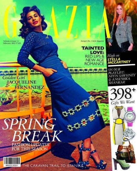 Jacqueline Fernandez - Grazia Magazine Cover [India] (February 2012)