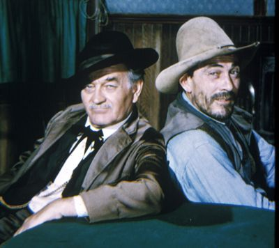 Milburn Stone Doc & Festus on Gunsmoke