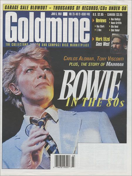 David Bowie - Goldmine Magazine [United States] (6 June 1997)