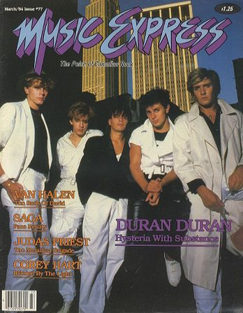 Simon Le Bon - Music Express Magazine [Canada] (March 1984)