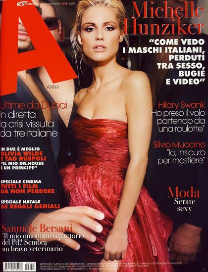 Michelle Hunziker - A Magazine Cover [Italy] (December 2009)