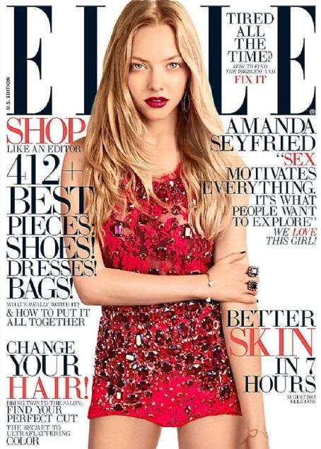 Amanda Seyfried - Elle Magazine Cover [United States] (August 2013)