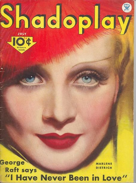 Marlene Dietrich - Shadoplay Magazine [United States] (July 1934)