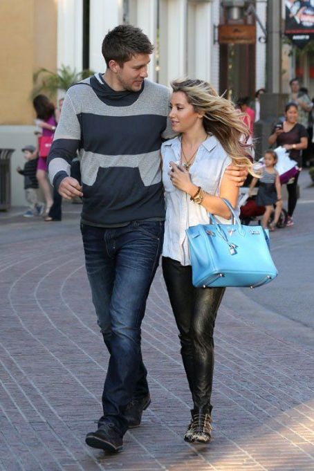 Ashley Tisdale and Scott Speer: at The Grove shopping center in West Hollywood