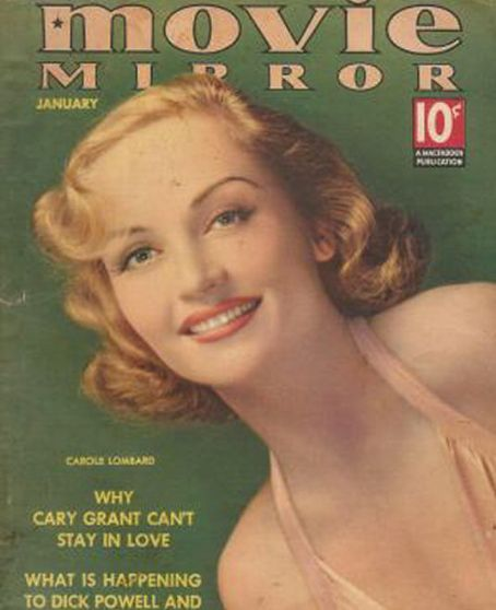 Carole Lombard - Movie Mirror Magazine [United States] (January 1938)
