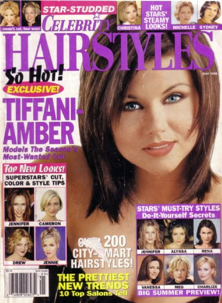 Tiffani Thiessen - Celebrity Hairstyles Magazine [United States] (May 1999)